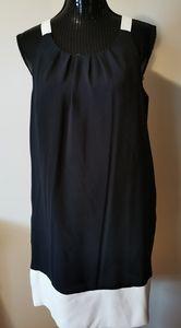 Alfred Sung Black & White Dress Size Medium